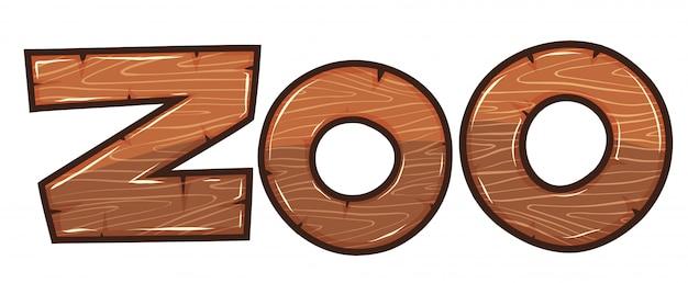Diseño de fuente para word zoo vector gratuito