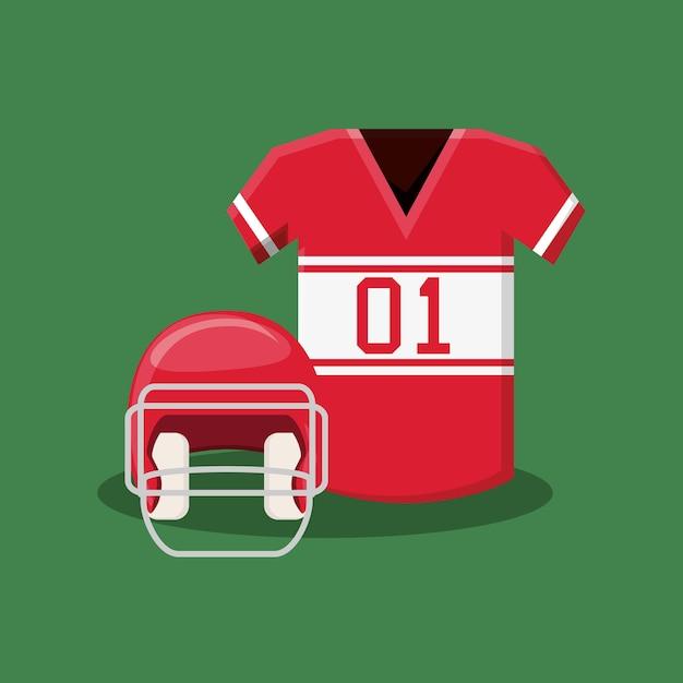 Diseño de fútbol americano con casco y camiseta  73542cfdbe0