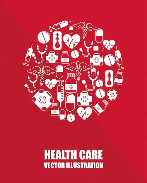 Diseño gráfico para el cuidado de la salud vector gratuito
