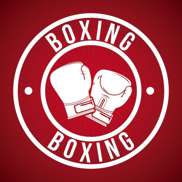 Diseño gráfico del logotipo de la insignia de boxeo vector gratuito