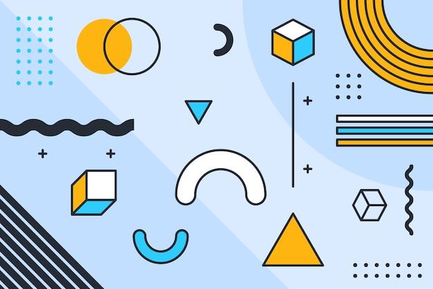 Diseño gráfico resumen de antecedentes geométricos vector gratuito