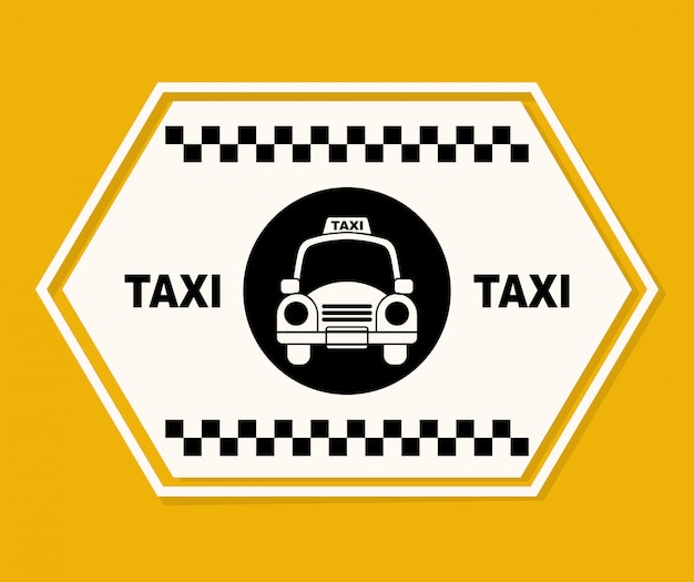 Diseño gráfico de taxi vector gratuito