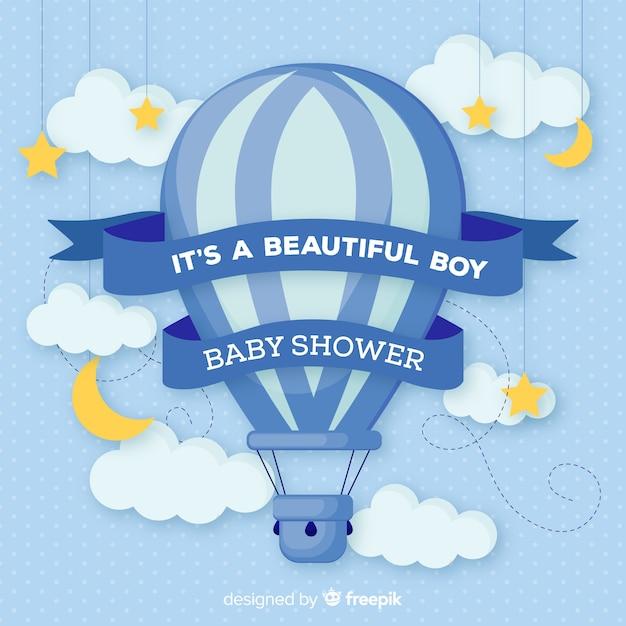 Diseño hermoso de baby shower vector gratuito