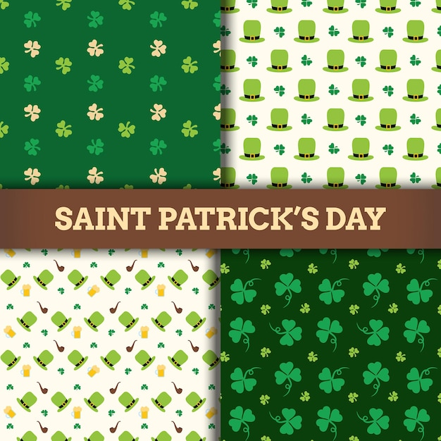 Diseño de icono de patrón de día de san patricio Vector Premium