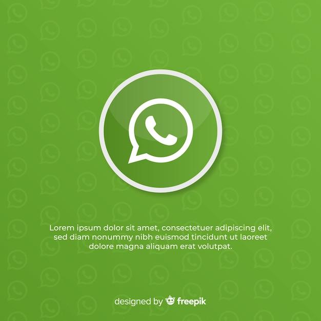 Diseño de icono de whatsapp vector gratuito