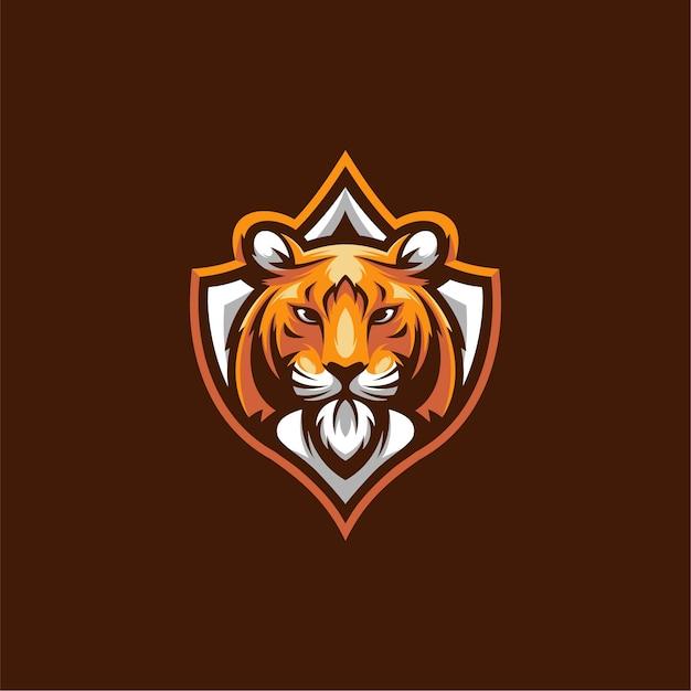 Diseño de ilustración de tigre, logotipo de esport. Vector Premium