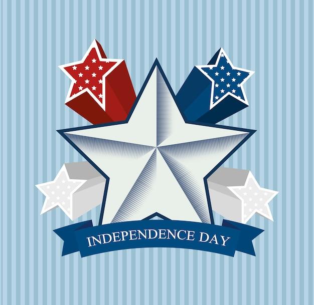 Diseño independencia de america vector gratuito