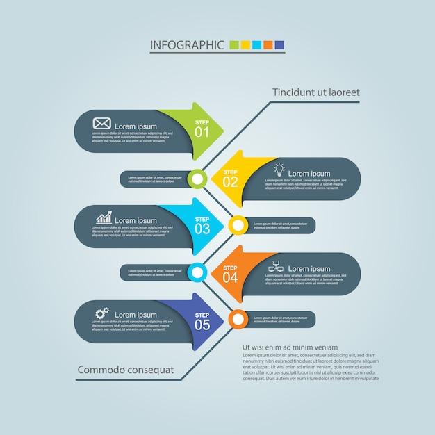 Diseño infográfico Vector Premium