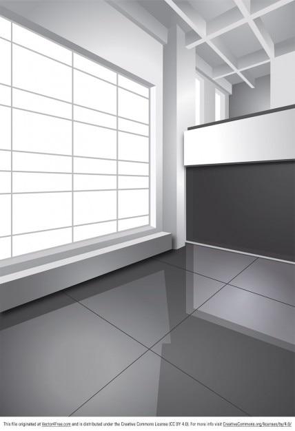 Dise o interior de la oficina de apartamentos descargar vectores gratis for Programa de diseno de oficinas gratis