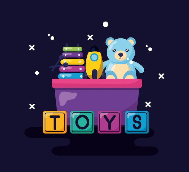 Diseño de juguetes para niños vector gratuito