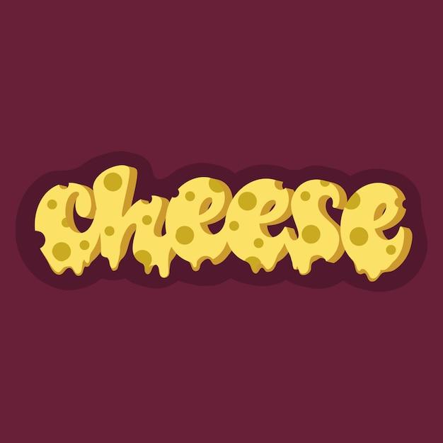 Diseño de letras de queso Vector Premium