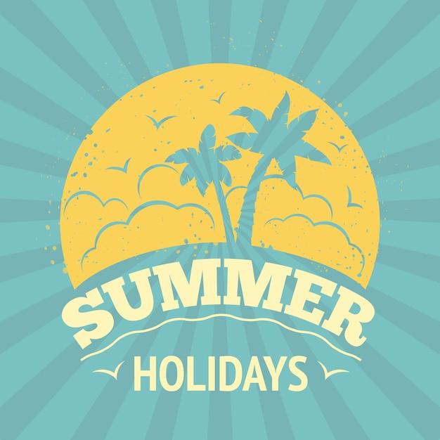 Diseño de letras de vacaciones de verano vector gratuito