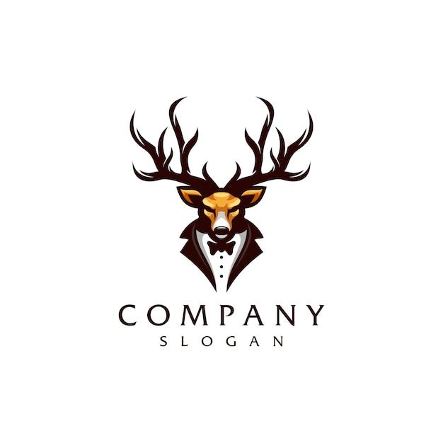 Diseño de logotipo de ciervo Vector Premium
