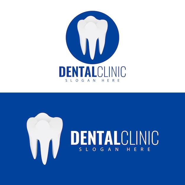 Diseño de logotipo de clínica dental. Vector Premium