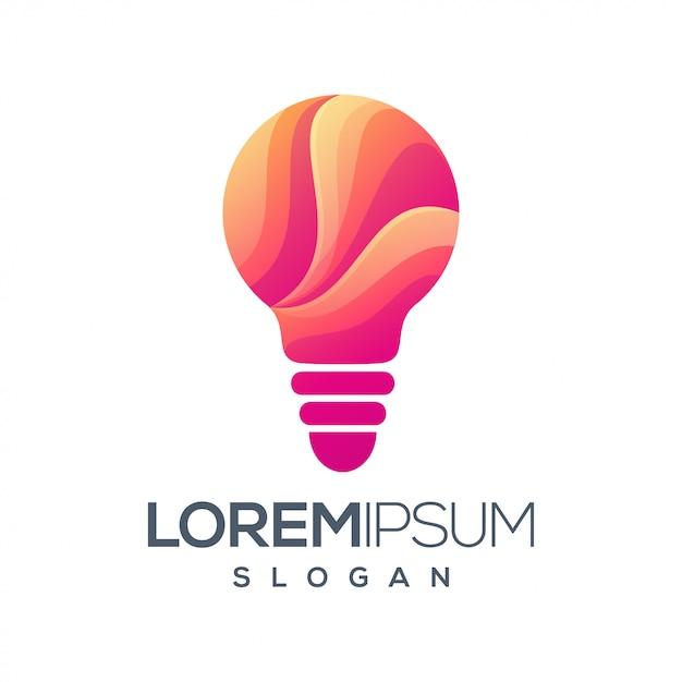 Diseño de logotipo de color degradado claro Vector Premium