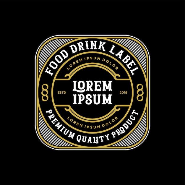 Diseño de logotipo de comida y bebida para producto y restaurante. Vector Premium