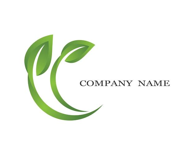 Diseño de logotipo ecología Vector Premium