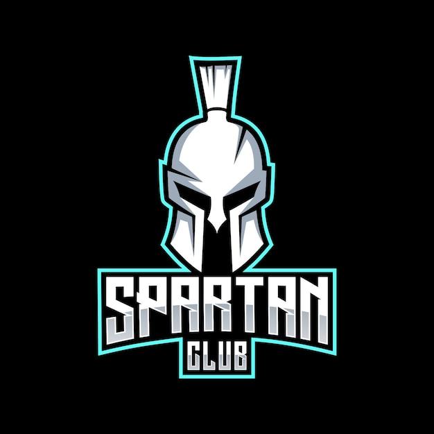 Diseño de logotipo espartano Vector Premium