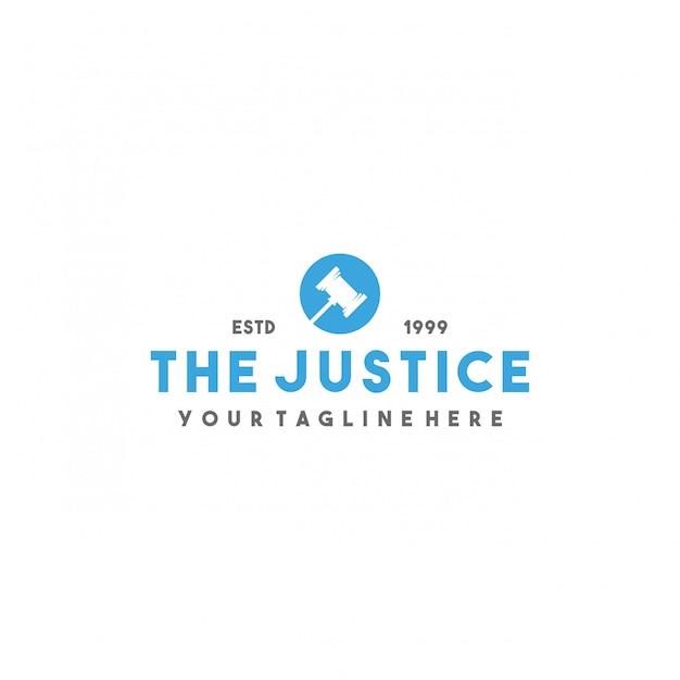 Diseño de logotipo de justicia moderna creativa Vector Premium