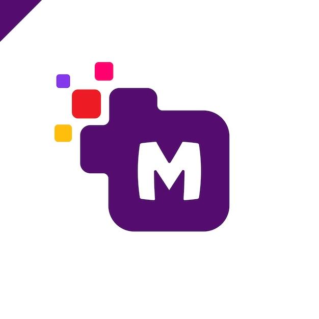 Diseño de logotipo de letra cuadrado corporativo m de empresa Vector Premium