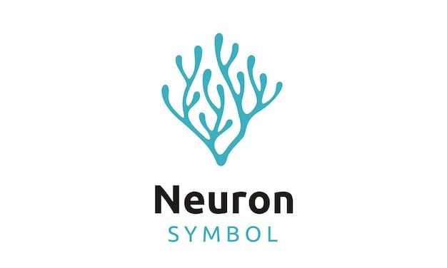 Diseño de logotipo de neurona / algas marinas Vector Premium