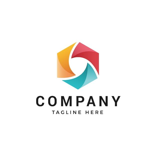 Diseño de logotipo o elemento abstracto moderno Vector Premium
