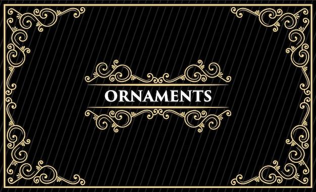 Diseño de logotipo retro vintage de lujo heritage dibujado a mano con marco decorativo para texto de tarjeta de invitación de boda y escaparate de fuente premium Vector Premium