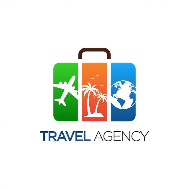 Diseño de logotipo de viaje Vector Premium