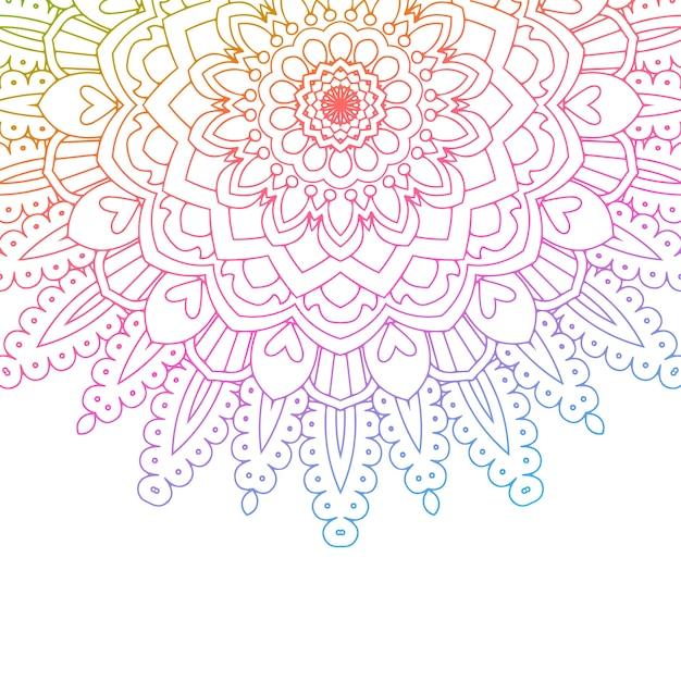 Diseño De Mandala Con Colores De Arco Iris Descargar Vectores Gratis