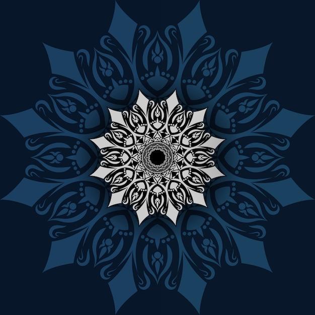 Diseño de mandala de lujo Vector Premium