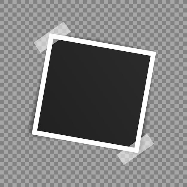 Diseño de maqueta de marco de foto de vector. Vector Premium
