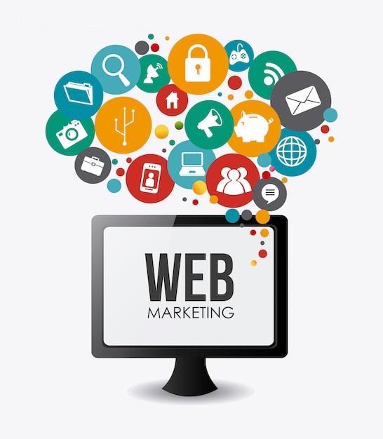 Diseño de marketing. Vector Premium