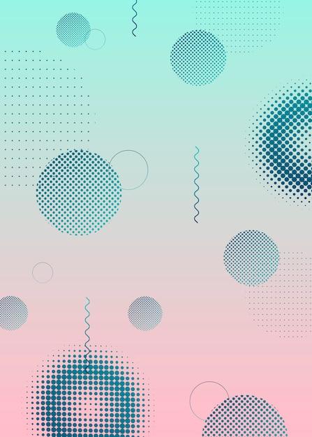 Diseño de medios tonos futurista vector gratuito