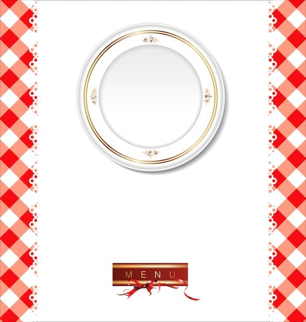 Diseño del menú del restaurante. Vector Premium