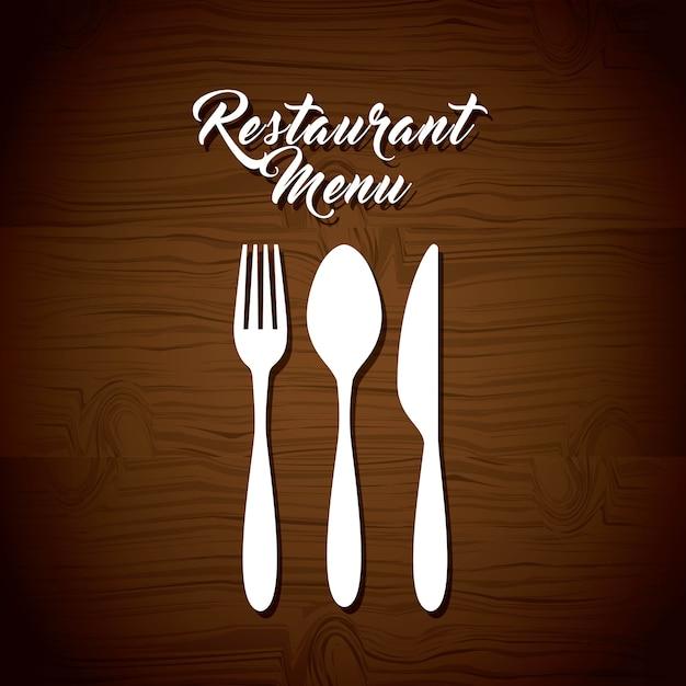 Diseño de menú de restaurante Vector Premium
