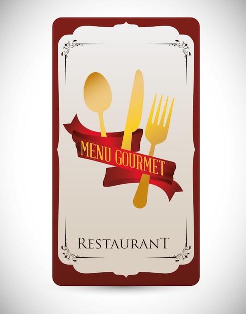 Diseño de menú Vector Premium