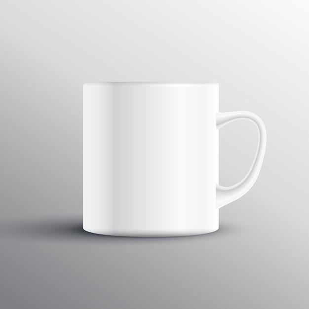 Diseño de mockup de taza vacia vector gratuito