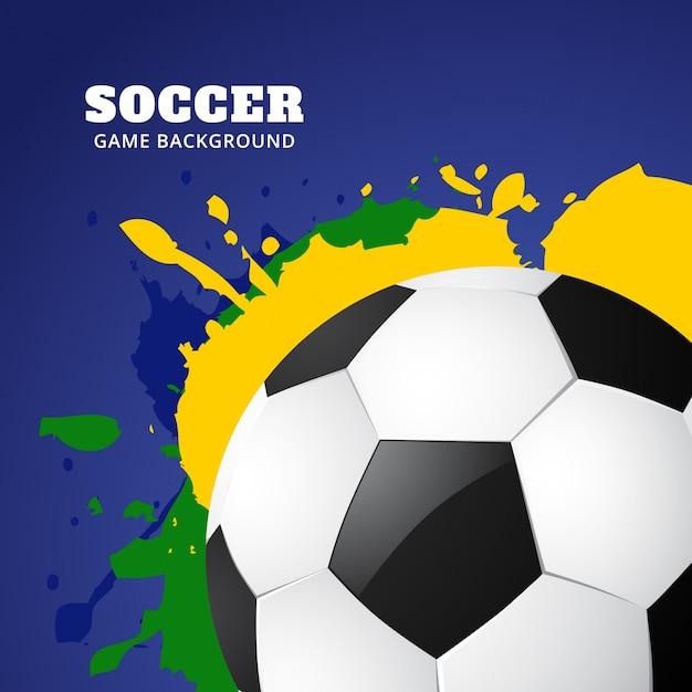 Diseño moderno de fútbol en colores de brasil | Descargar Vectores ...