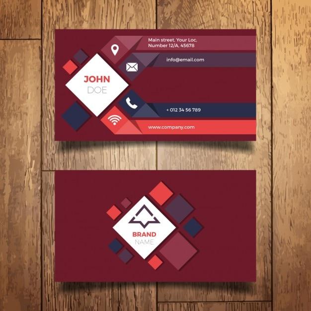 Dise o moderno de tarjeta de negocio descargar vectores for Disenos para tarjetas