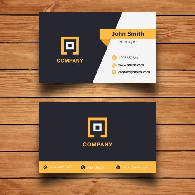 Diseño moderno de tarjeta de visita corporativa Vector Gratis