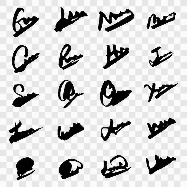 Diseño moderno de firmas vector gratuito