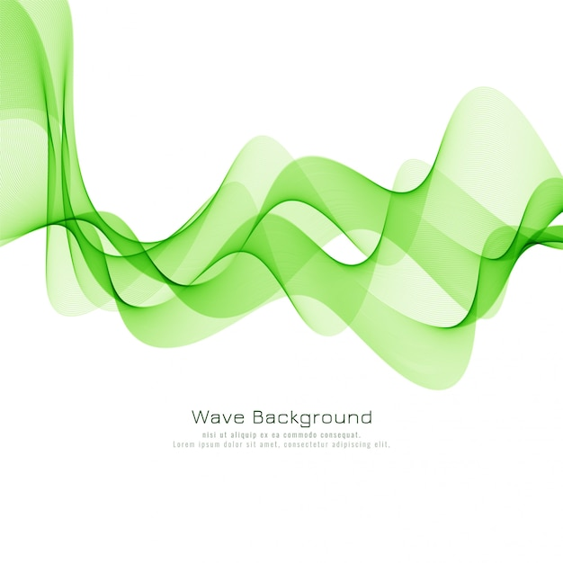 Diseño moderno fondo de onda verde elegante vector gratuito