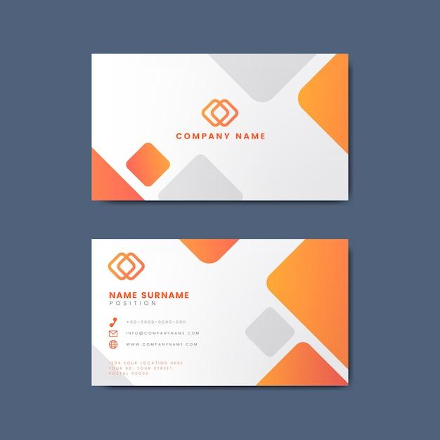 Diseño moderno mínimo de la tarjeta de visita que ofrece elementos geométricos vector gratuito