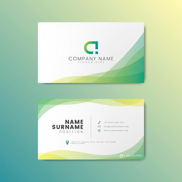Diseño moderno mínimo de la tarjeta de visita vector gratuito