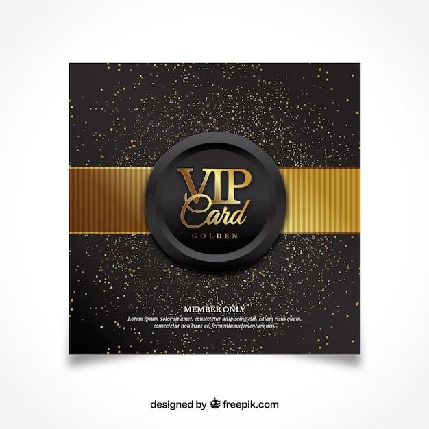 Diseño moderno de tarjeta vip dorada vector gratuito