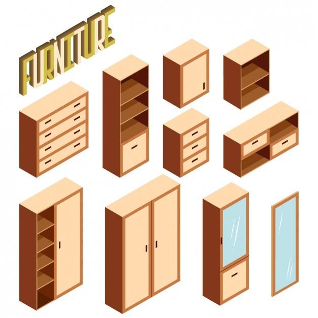 Dise o de muebles en perspectiva descargar vectores gratis for Software diseno muebles gratis
