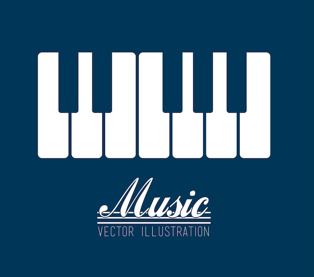 Diseño musical Vector Premium