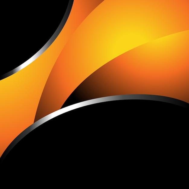 Diseño Naranja Y Negro De Fondo