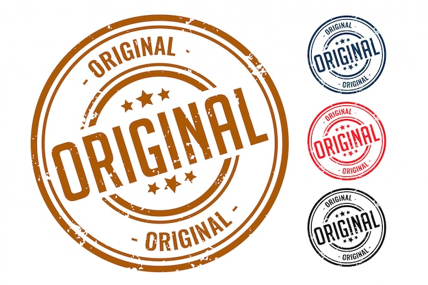 Diseño original de cuatro sellos de sello de goma vector gratuito