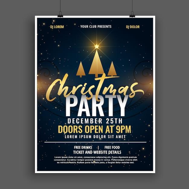 Bonito Plantilla De Invitación De Navidad Gratis Embellecimiento ...